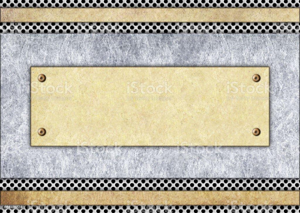 Metallschild Bronze Oder Messing Rahmen Hintergrund Stock-Fotografie ...