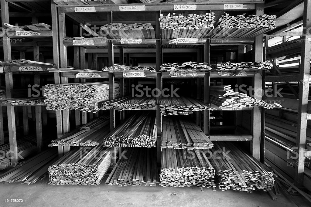metal slat in warehouse stock photo