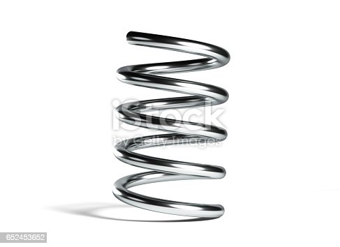 istock Metal Spring Isolated On White Background 652453652
