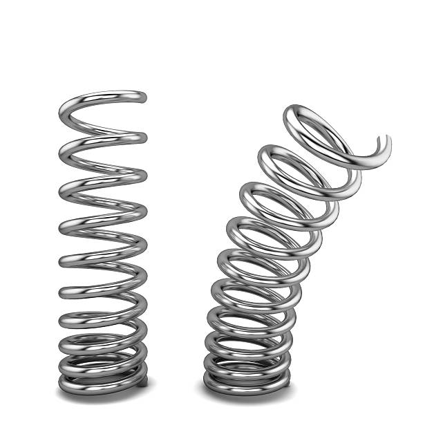 Metal springs Metal springs. 3d illustration isolated on white background amortize stock pictures, royalty-free photos & images