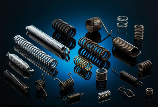 metal springs - molla foto e immagini stock
