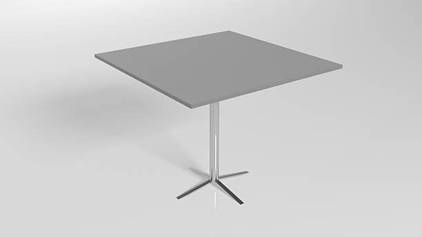 metall square tisch, isoliert auf weißem hintergrund - couchtisch metall stock-fotos und bilder