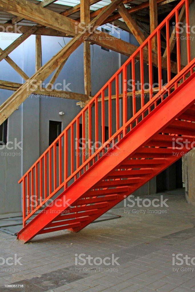 Metall-Treppe – Foto