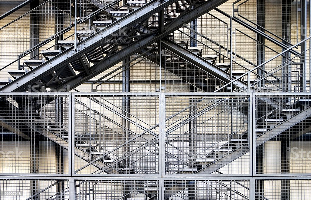 Metal stairs royalty-free stock photo