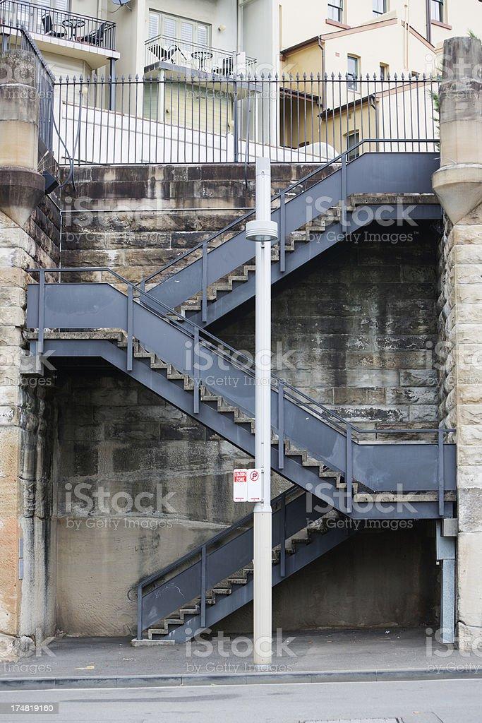 Metal Stairs, The Rocks, Sydney, Australia royalty-free stock photo