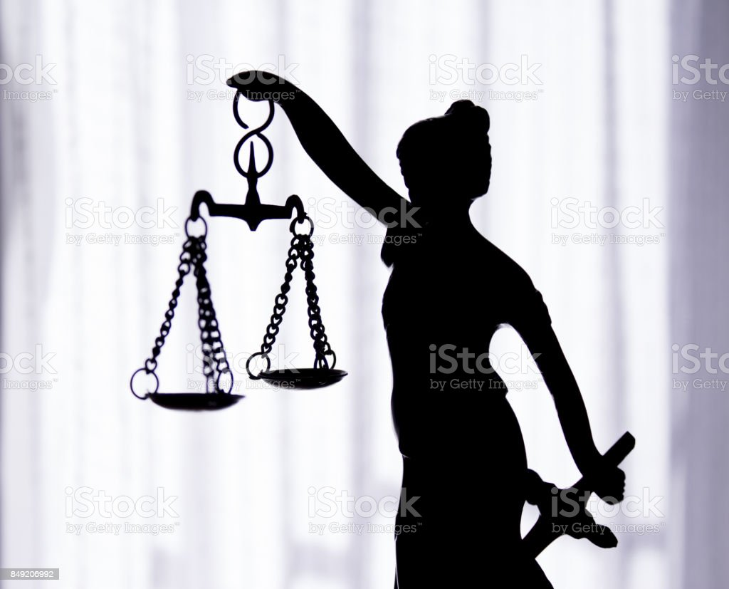 Metal Statue Symbol Of Justice Themis Stock Photo More Pictures Of