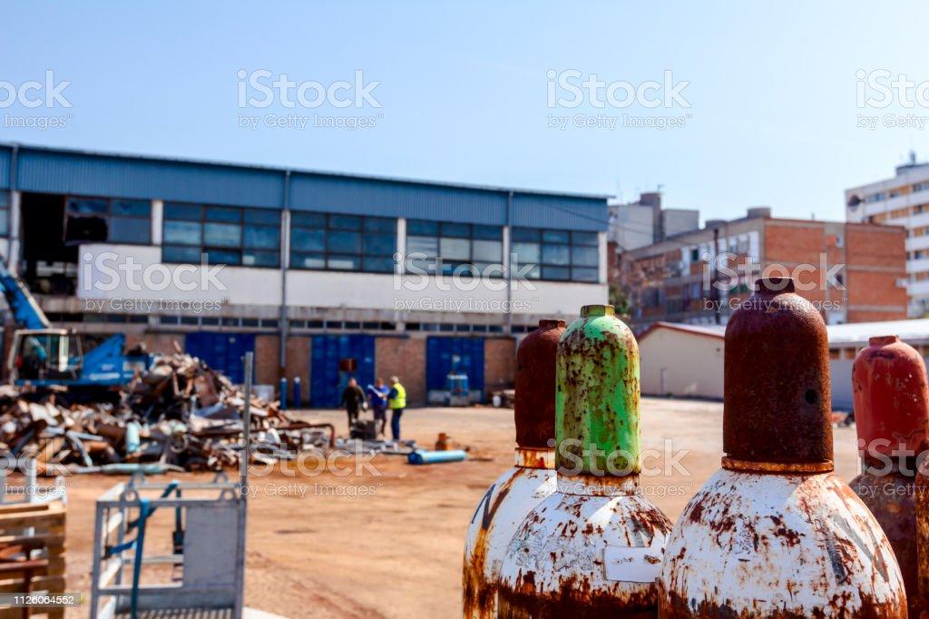 Metal Steel Gas Cylinder Container Acetylene Oxygen Stock