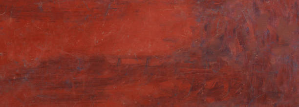 metall stahl blatt textur, rote hintergrundfarbe, banner - rostrot stock-fotos und bilder