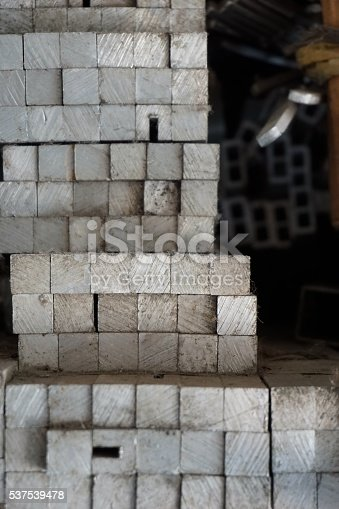 istock metal stock in warehouse 537539478