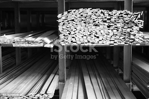 687475318 istock photo metal stock in warehouse 537539558