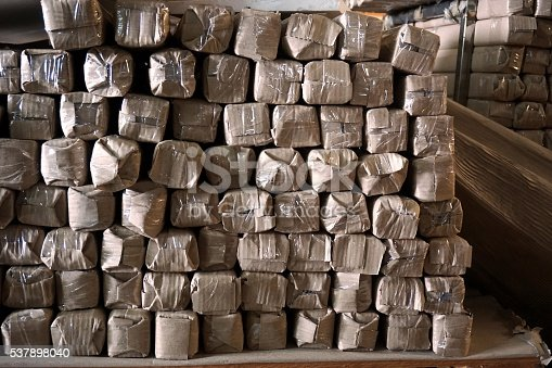 687475318 istock photo metal stock in warehouse 537898040