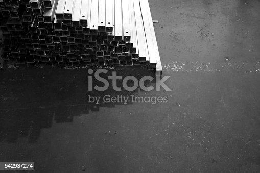 687475318 istock photo metal stock in warehouse 542937274