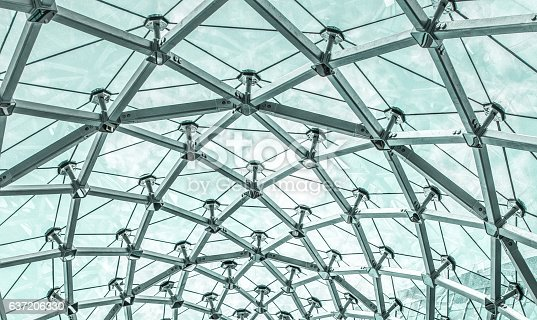 istock Metal Structure of Modern Glass Roof 637206330