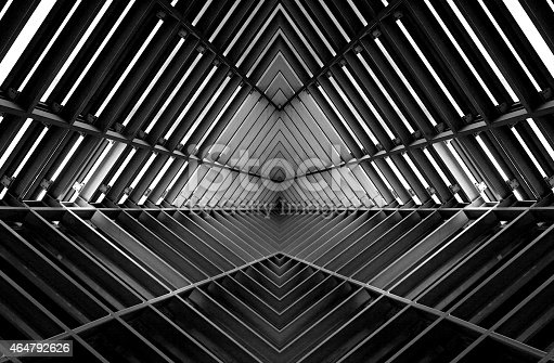 istock metal structure similar to spaceship interior in black and white 464792626