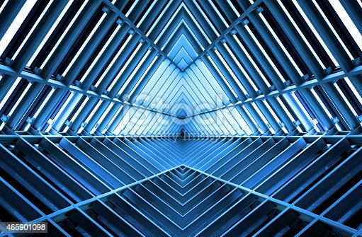 istock metal structure similar to spaceship interior in blue light 465901098