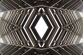 metal structure similar to spaceship interior