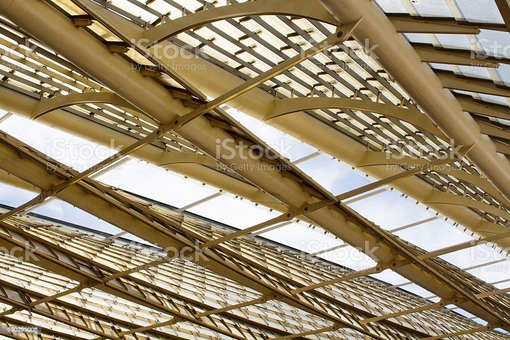 Metal structured roof of Les Halles in Paris Стоковые фото Стоковая фотография