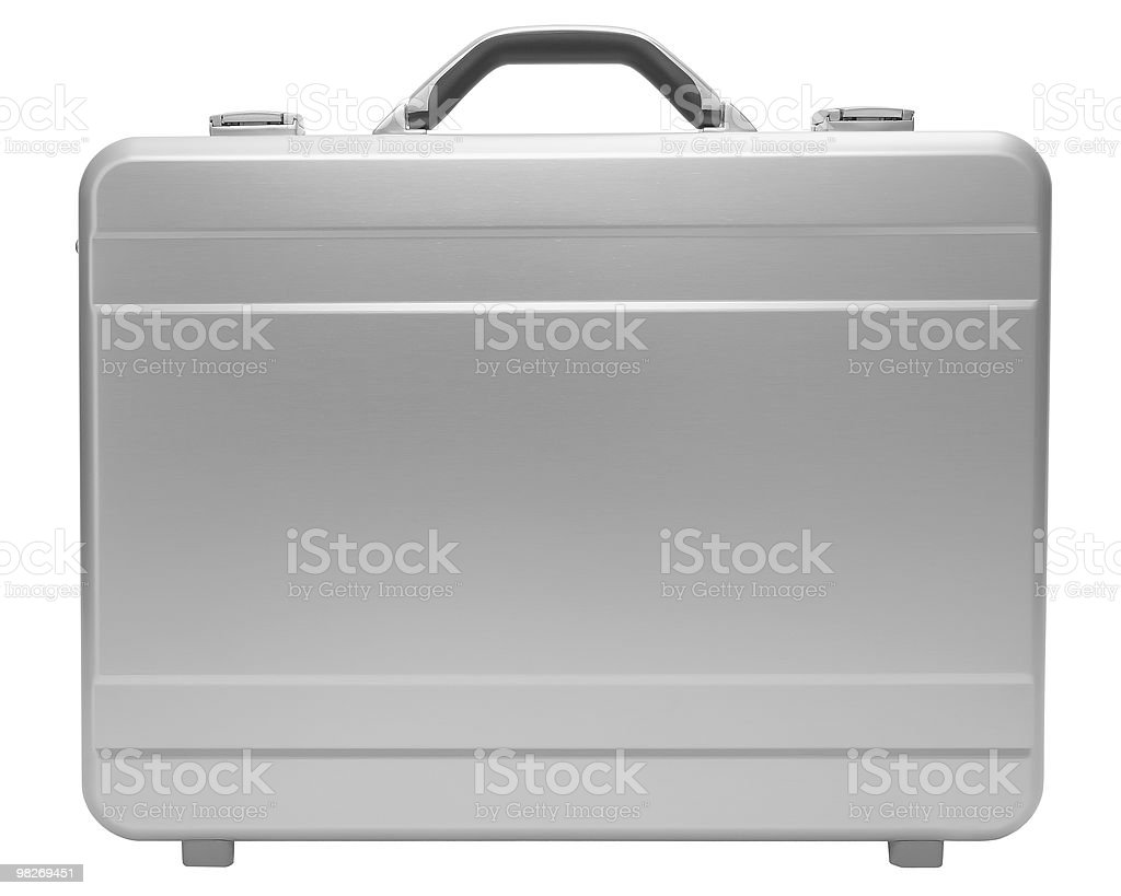 Metal suitcase isolated royalty-free stock photo