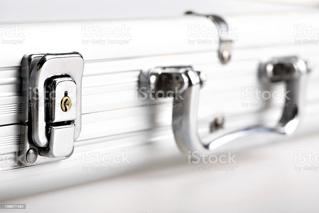 Metal suitcase lock royalty-free stock photo