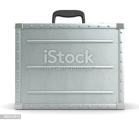 Metal suitcase isolated on white. Clipping path included.Similar images: