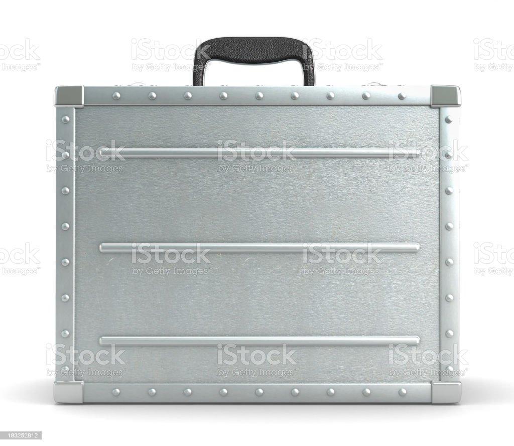 Metal suitcase stock photo