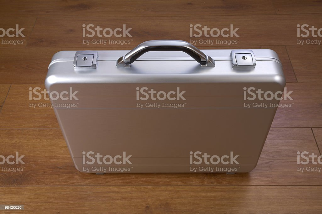 Metal suitcase royalty-free stock photo