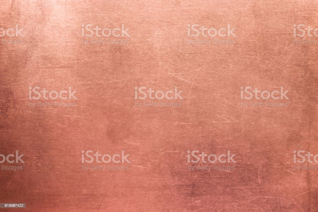 Metal surface background, old texture  bronze plate stock photo