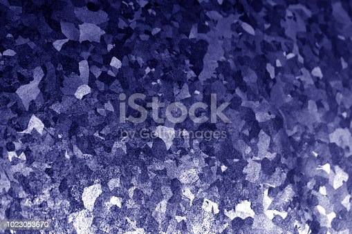 istock Metal surface in blue tone. 1023053670