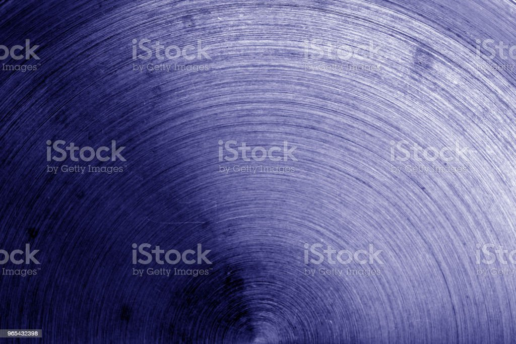 Metal surface with scratches in blue tone. zbiór zdjęć royalty-free