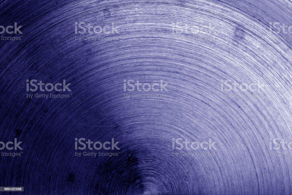 Metalloberfläche mit Kratzern im Blauton. - Lizenzfrei Alt Stock-Foto