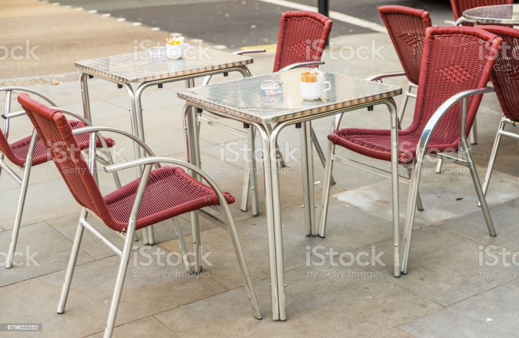 Metal Tables And Wicker Chairs Restaurant Front Restaurant Garden Catering Industry Stock Photo Download Image Now Istock