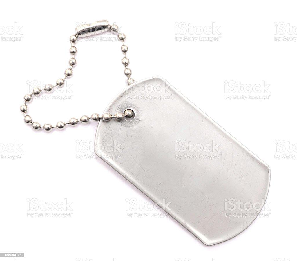 metal tag stock photo