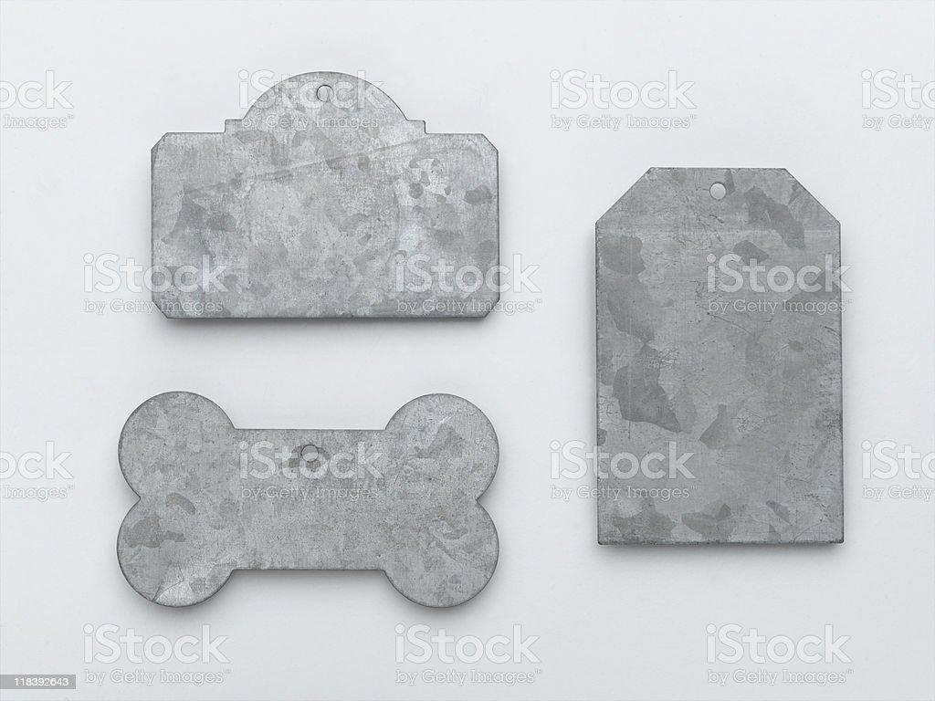 Metal Tags stock photo