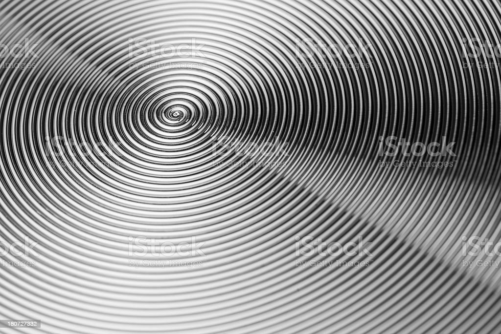Metal texture abstract background spiral aluminum steel (XXXLarge) royalty-free stock photo