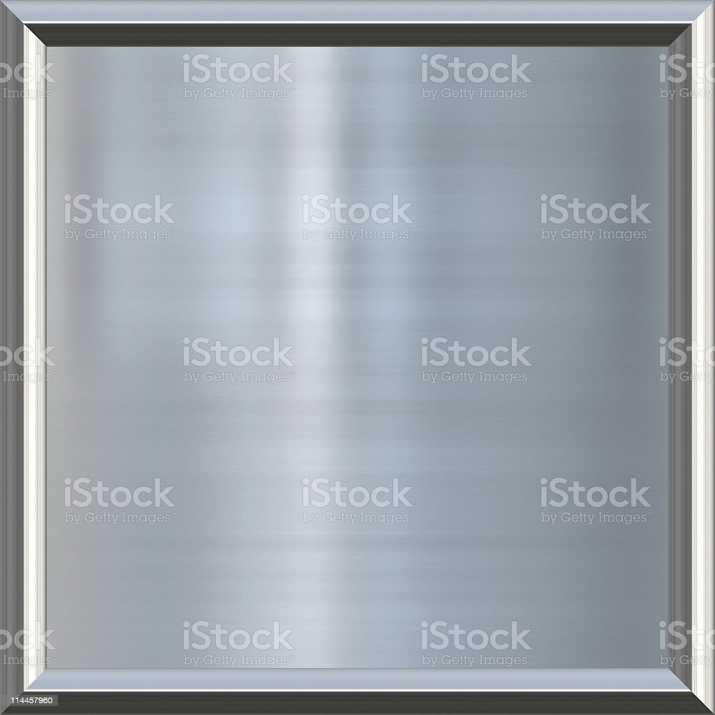 metal texture award frame of brushed aluminium background royalty-free stock photo