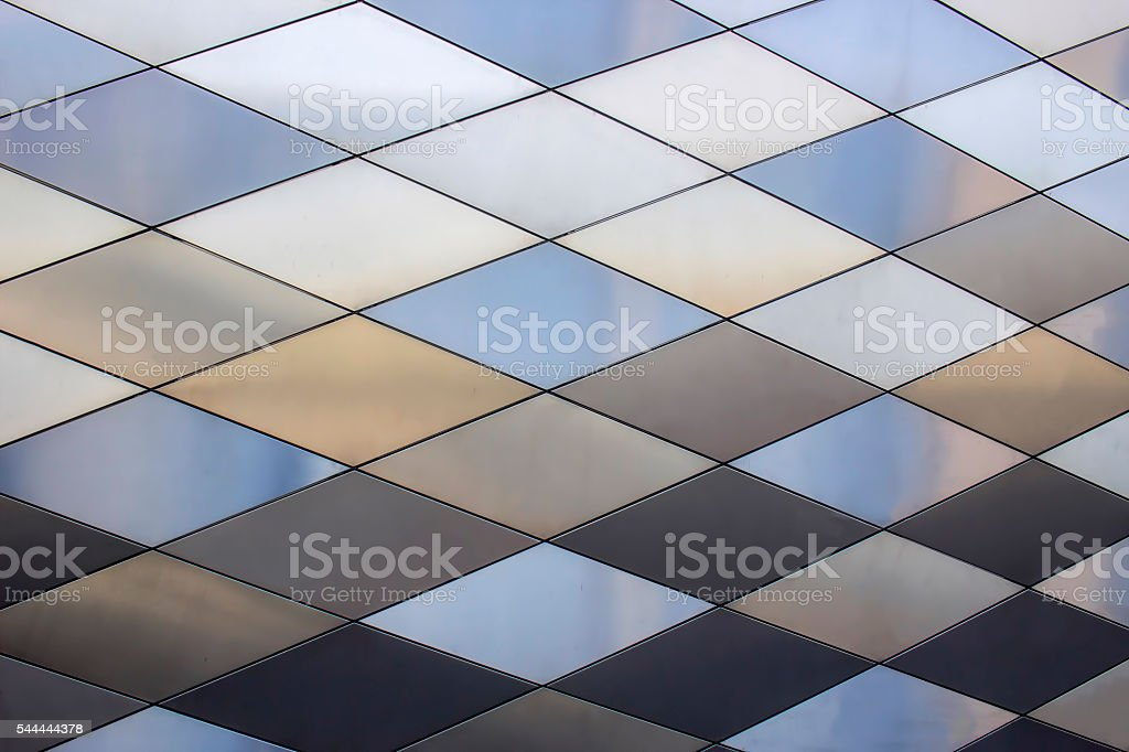 Metal texture background. Abstract architectural pattern. Colored metals plates stock photo