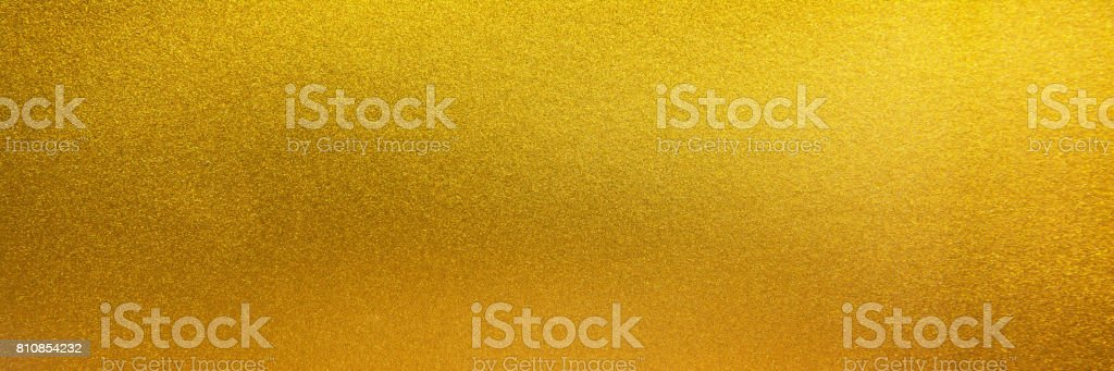 Metal texture background in gold.Panorama gold texture stock photo
