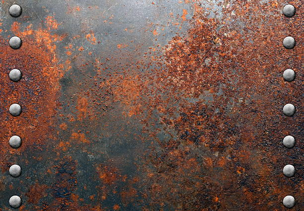 metal texture - rusty stock photos and pictures