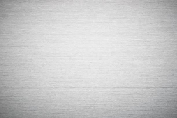 metalen textuur zilver haarlijn - roestvrij staal stockfoto's en -beelden