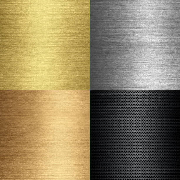 metal textures set - 銅色 個照片及圖片檔