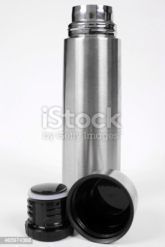 1135476970istockphoto Metal thermos isolated on white 465974368