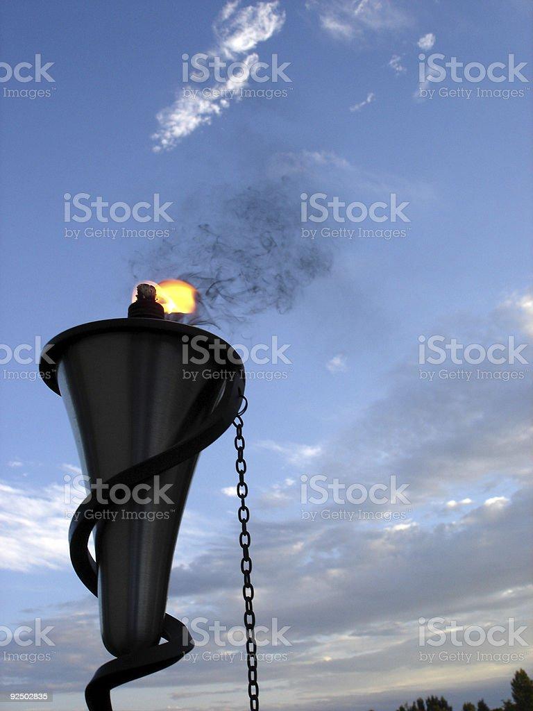 Metal Tiki Torch royalty-free stock photo