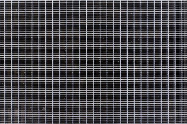 MetallfliesenGitter Textur. Stahl-Pflaster Hintergrund. Abstrakte MetallbodenMuster. Bodengitter Lüftungskulisse – Foto