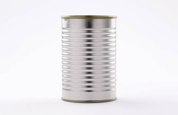 metal tin cans foods easy open on white  background metal tin cans foods fruits Vegetables legumes tuna meat  easy open on white background high and low angle can stock pictures, royalty-free photos & images