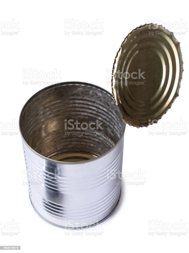Metal tin royalty-free stock photo