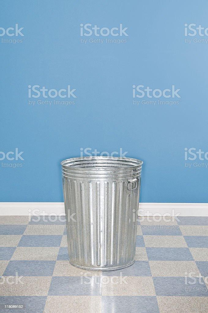 Metal Trash Can royalty-free stock photo