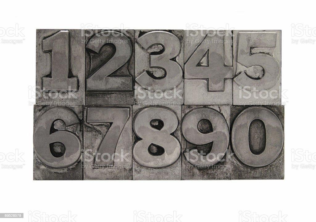 metal type numbers 2 royalty-free stock photo
