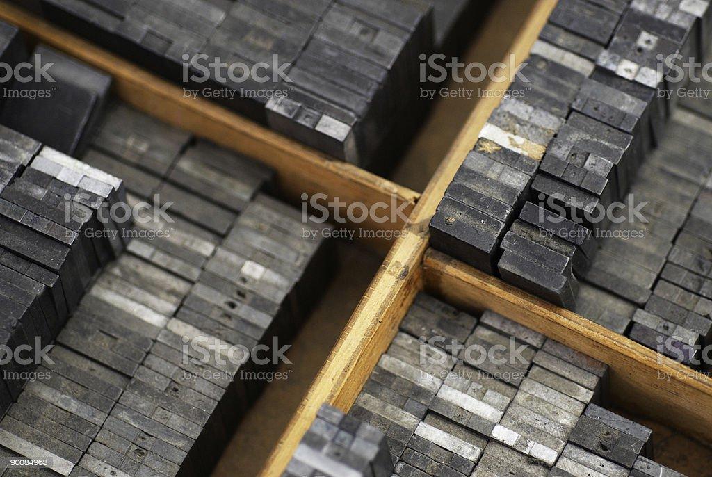 Metal Types stock photo