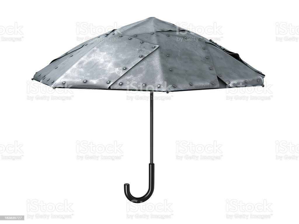 Metal umbrella stock photo