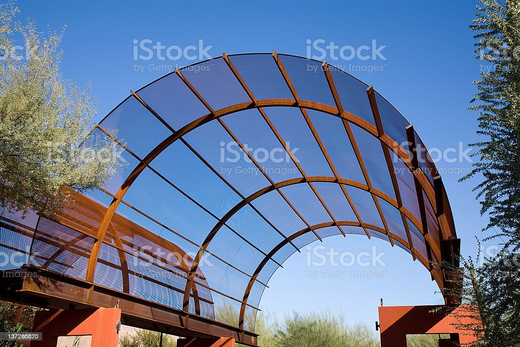Metal Vaulted Roof royalty-free stock photo